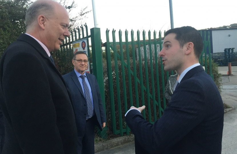 Speaking with the Transport Secretary about the plans for Elland Station