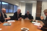 Discussing progress on Elland Station with the Transport Secretary